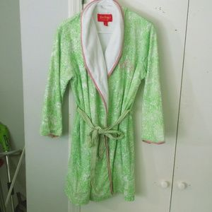 Lilly Pulitzer Jubilee Green Toile Robe Cover Up S